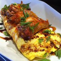 chicken wings omelette