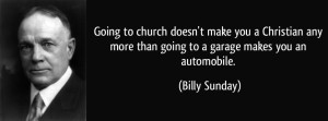 Billy Sunday going to church quote