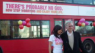 Ariane Sherine and Richard Dawkins at the Atheist Bus Campaign. Photo by Zoe Margolis. CC BY-NC-ND 2.0